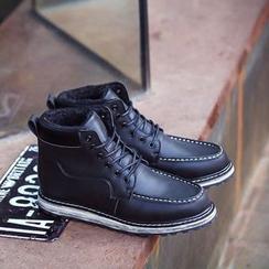 Preppy Boys - 真皮刷毛里短靴