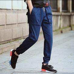 Danjieshi - Drawstring Tapered Pants