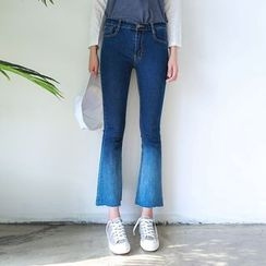 Canton Story - Washed Boot Cut Jeans