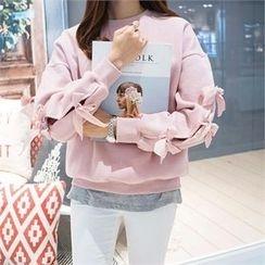 PIPPIN - Beribboned-Sleeve Sweatshirt