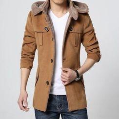 Bay Go Mall - Fleece Trench Jacket