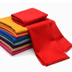 Romguest - Plain Fringed Silk Blend Scarf