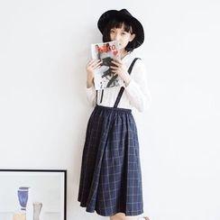 Forest Girl - Check A-Line Jumper Skirt
