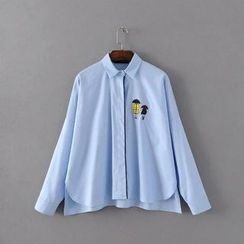 Acoustic Rain - Applique Long-Sleeve Shirt