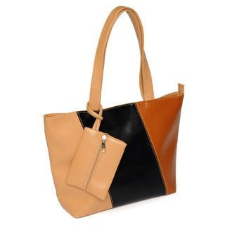 YesStyle Bags - Color-Block Tote with Pouch