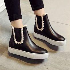 錦洋鞋業 - 厚底短靴