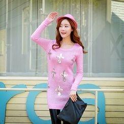 Dabuwawa - Sequined Sweater Dress