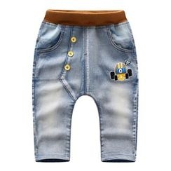 Endymion - Kids Printed Band Waist Jeans