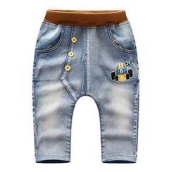 Endymion - 童装印花束腰牛仔裤