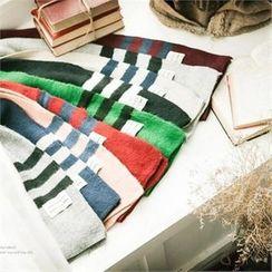 TOMONARI - Stripe Long Knit Scarf