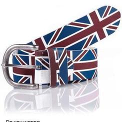 SeventyAge - England Flag-Print Belt