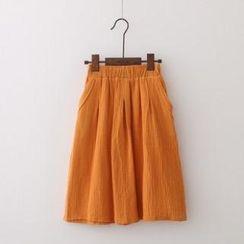 SOPOL - Textured Midi Skirt