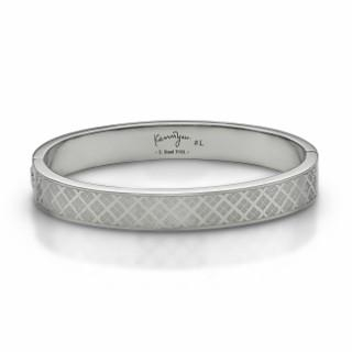 Kenny & co. - Checkered Steel Bangle(L)