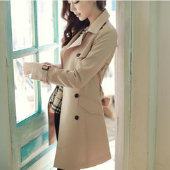 MyFiona - Double-Breasted Trench Coat With Belt