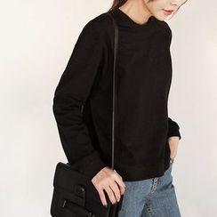 Seoul Fashion - Round-Neck Plain T-Shirt