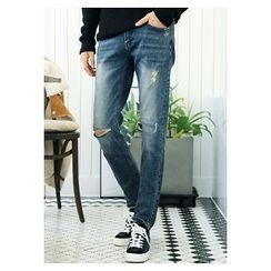 HOTBOOM - Washed Blue Jeans