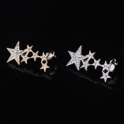 Seirios - Rhinestone Star Single Clip-On Earring
