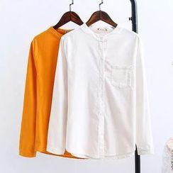 HANIA - 灯芯绒纯色衬衫