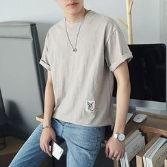 Besto - Short-Sleeve Applique T-Shirt