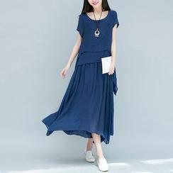 Salisha - Linen Cotton Short-Sleeve Dress