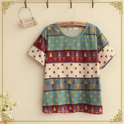 Fairyland - Patterned Short-Sleeve T-Shirt