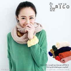 rico - Textured Long Circle Scarf