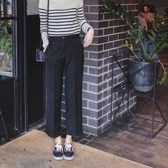 mimi&didi - Pocket-Side Straight-Cut Pants