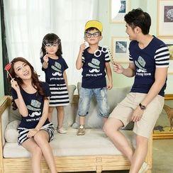 Lovenest - Family Matching Short-Sleeve T-Shirt / Dress