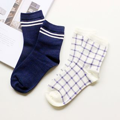 Gemini - Plaid Socks Set