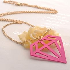 Fit-to-Kill - Hollowed Diamond Necklace