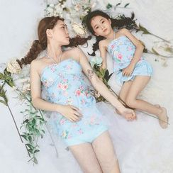 EMOX - Family Floral Print Swimdress