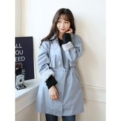 LOLOten - Stand-Collar Lace-Lined Parka