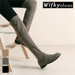 Wifky - Faux-Suede Over-the-Knee Boots