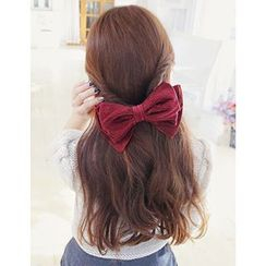 soo n soo - Ribbon Corduroy Hair Clip