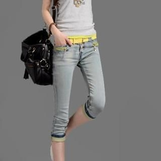 On The Block - Fray-Trim Cropped Skinny Jeans