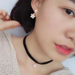 Calypso - Cherry Blossom Earrings / Necklace / Choker