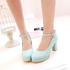 ZIMA - 多带粗跟高跟鞋