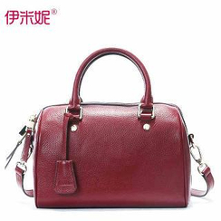 Emini House - Genuine-Leather Boston Bag