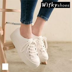Wifky - Perforated Platform Sneakers