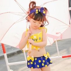 Goldlyre - Kids Set: Frilled Swim Top + Swim Skirt