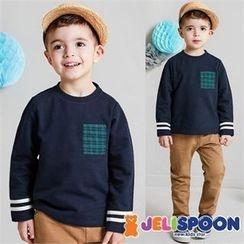 JELISPOON - Boys Set: Contrast-Trim T-Shirt + Pants