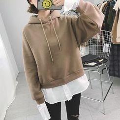 Eva Fashion - 假两件内加绒卫衣