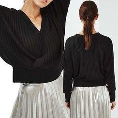 Obel - Plain V-Neck Sweater