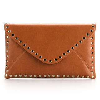 Ethel - Studded Flap Envelope Clutch