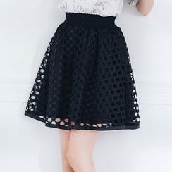 Tokyo Fashion - Cutout A-Line Skirt