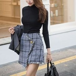 Aurora - Set: Top + Tweed Skirt