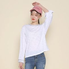 Envy Look - Round-Neck Plain T-Shirt