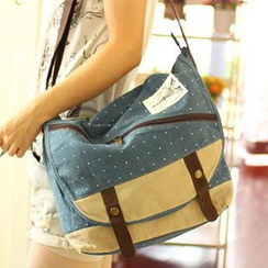 Canvas Love - Printed Canvas Cross Bag