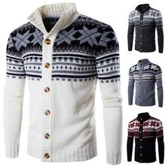 Bay Go Mall - Patterned Knit Cardigan