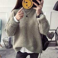 Qimi - Plain Turtleneck Sweater